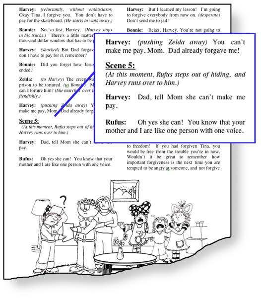"An image of the SKITuations script showing examples of ""traditional values."""