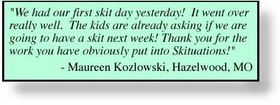 A testimony from a SKITuations user.