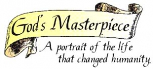 "The ""God's Masterpiece"" logo."