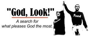 "A graphic logo for ""God, Look!"""
