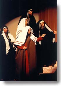 Scribes and Pharisees pointing.