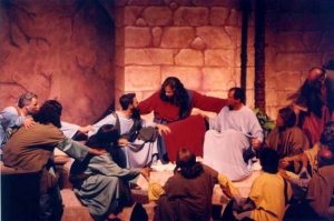 """Jesus says """"Farewell"""" to His disciples."""