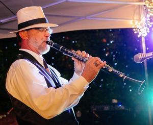 Keith Ward playing his clarinet.