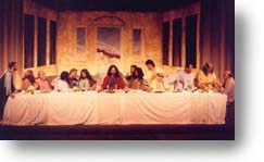 """The staging of the """"Last Supper."""""""
