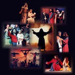 """A montage of images from the play, """"God's Masterpiece."""""""