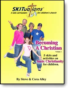 The cover of a SKITuations volume - Vol. 1 - Becoming A Christian