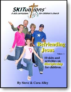 The cover of a SKITuations volume - Vol. 11 - Befriending Jesus