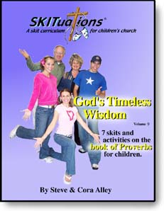 The cover of a SKITuations volume - Vol. 9 - God's Timeless Wisdom