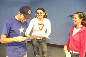 SKITuations actors rehearsing.