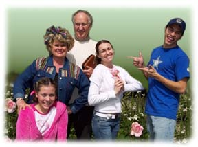 A SKITuations acting team, with 5 adults and teens.