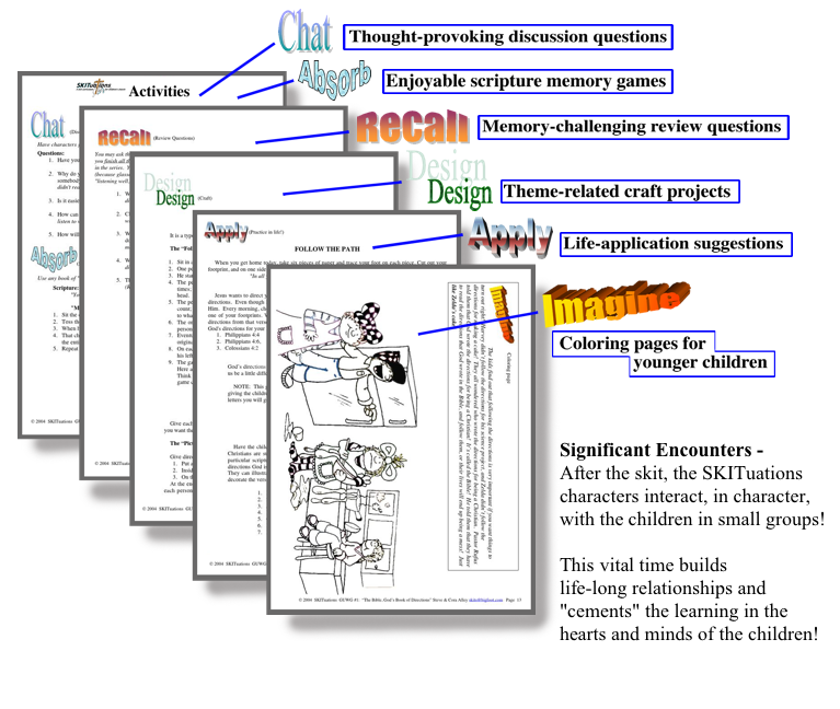 An image of the SKITuations activity pages.