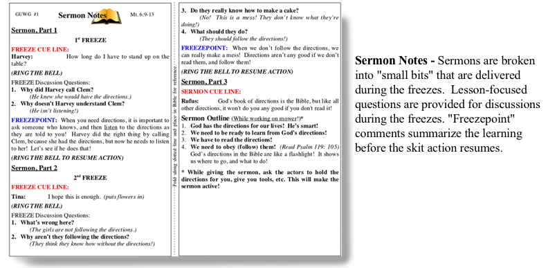 An image of the SKITuations sermon notes.