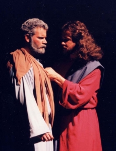 Jesus confronts and challenges Peter.