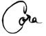 Cora's signature