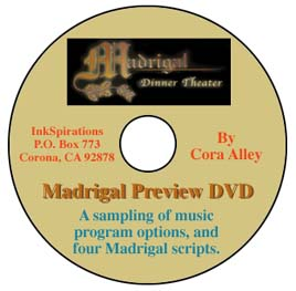 An image of the InkSpirations Christmas Madrigal Preview DVD.