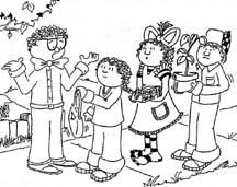 A cartoon drawing of a SKITuations script - The Church, The Bride of Christ