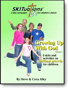 The cover of a SKITuations volume - Vol. 2 - Growing Up With God