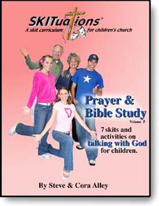 The cover of a SKITuations volume - Vol. 5 - Prayer & Bible Study